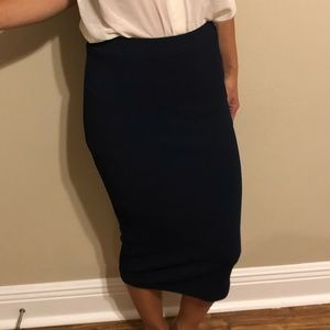 XS Philosophy NAVY BLUE pencil skirt